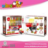 2015 Plastic outdoor barbeque toy kids bbq set toy pretend play kitchen toy with light and music