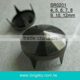 (#SR0201) decorative black metal prong studs for leather shoes