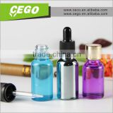 childproof and temper evident cap Glass Material and Dropper Sealing Type 30ml e liquid bottles