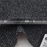 Wholesale high quality wool nylon woolen grey tweed fabric