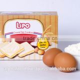 Best Sale Baked Biscuit Snack LIPO 100g Cream Egg Rusk Cookies with Crispy Texture, Low-Salt, Low-Fat
