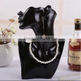 Black head Mannequin Necklace Pendant & Earring Display Stand Jewelry Bust Figurine AFELLO