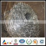 Hot dipped galvanized weight of barbed wire price per roll barbed wire fence for sale