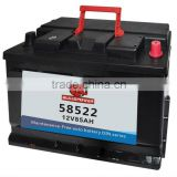 car battery factory 58522 DIN Standard 12v85ah car battery solar battery lead crystal battery