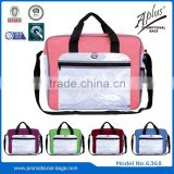 clear pvc hard plastic briefcases with front zipper pocket
