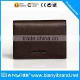 Custom genuine cow leather credit card holder zipper wallet for men                                                                         Quality Choice