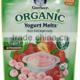 Gerber Organic Yogurt Melts Fruit Snacks Red Berries, 1 Ounce (Pack of 7)