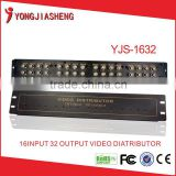 Video Distributor for CCTV System BNC Connector Video Splitter 16 in 32 out