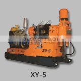 Big hoist capacity mineral core drilling rig XY-5 portable truck drilling