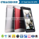 Android tablet wifi 7 inch tablet 3g dual sim card pc tablet phone Created A7
