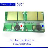 Compitable reset toner and drum chips C452 552 652 for Konica Minolta Bizhub