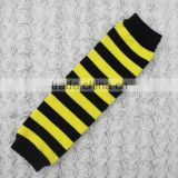 KP-LW041 Yellow stripe Unisex Baby Toddler Girls Boys Leggings Long Socks Arm Leg Warmers