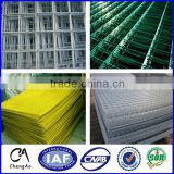 3x3 galvanized welded wire mesh panel/3/8 inch galvanized welded wire mesh/green vinyl coated welded wire mesh fence