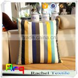 Simple Mediterranean multi color stripe printed polyester cotton fabric for table cloth sofa cushion cover using