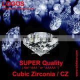 SUPER QUALITY CUBIC ZIRCONIA / CZ ROUND SHAPE HAND CUT 6.50 MM SYNTHETIC DIAMONDS LOOSE GEMSTONES