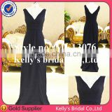 Simple style high quality with cheap price ruched sweetheart black fishtail evening dress