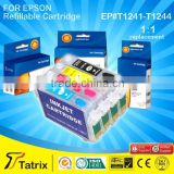 The Cheapest Price Wholesale T1241 Series Refillable Inkjet Printer Ink Cartridge For Epson T1241/T1242/T1243/T1244