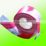 15mic thinest cheap red-white HDPE disposable barrier tape
