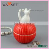 Unique Colorful Ball Shaped Ceramic Jewelry Display Case With Animal