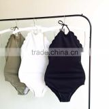 Factory price Retail popular wooden swimsuit clothes hanger, swimwear displayed wooden hanger STOCK bikini swimwear hanger