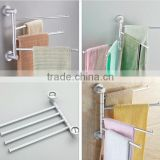 Bathroom Aluminum Wall Mounted Towel Rack / bathroom towel rack / towel Storage Holder With 3 Rotate Rails