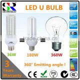 most powerful brightest high bright lumen efficiency performance 36W 5U LED U shape corn bulb light
