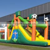 Outdoor football china inflatable obstacle course in inflatable bouncer equipment for adults supplier