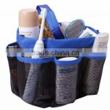 Multi-Pocket Waterproof Mesh Bath Shower Caddy Bag, Multi-Pocket Hagning Handle Shower Bag