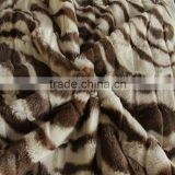 Animal Printed Super Soft Short Pile Knitted Plush Fabric
