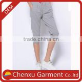 hot selling undefined wholesale drawstring waist 100% cotton wholesale sweat shorts mid length drop crotch fleece shorts