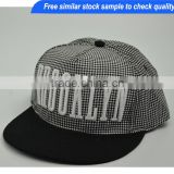 Custom snapback cap ,snap back cap with 3D embroidery