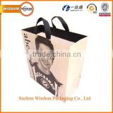 High quality custom factory made colorful shopping gift packaging paper bag with cotton handle