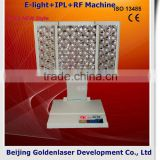 2013 New design E-light+IPL+RF machine tattooing Beauty machine hair washing bed