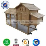 Wooden pigeon coop with wheel and run DXH014-T
