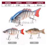 popular 3d eyes hard plastic multi jointed swim fishing lures