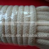 Natural color diamond braided cotton rope