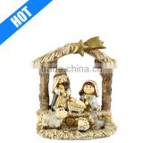 handmade painted christmas child poly resin outdoor nativity set