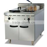 stainless steel Electric Fryer (2-tank&2-basket) with Cabinet (DF-885)