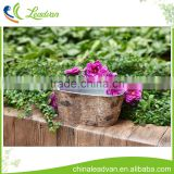 Christmas decoration garden indoor metal bark flower pot for 2017 Christmas oval metal bark flower pot set