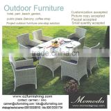 9007 New Arrival Muebles Garden Balcony Treasures Furniture PE rattan/Wicker/Cane Use Restaurant Dining Set