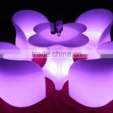 New design high top hotel battery led flower table