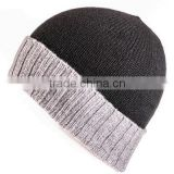 2017 Winter Knitted Plain Cashmere Wool Winter Beanie Hats