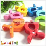 73mm*51mm Mixed Color Plush Stuffed Baby Toys Clamp Plastic Clip