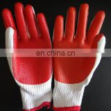 Cotton Working Gloves with Anti-slip Latex on Palm