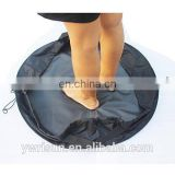 Black Polyester Waterproof Wetsuit Changing Mat/Bag Perfect for Beach Surf