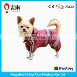 Classic cute large dog raincoat pattern with safety reflective tape