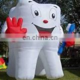 2017 Hot sale inflatable tooth, giant inflatable toothbrush, inflatable tooth balloon for advertising