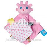 Lilu Girl Cuddle Toy - Blossom baby animal shaped blanket, Custom 100% cotton baby blanket animal design soft stuffed plush
