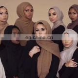 Fashionable Muslim shawl fancy Hijab islamic scarf for ladies cotton Hijab dubai hijab wholesale