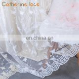 Catherine Professional Manufacturer White Embroidery Design French Lace Curtains